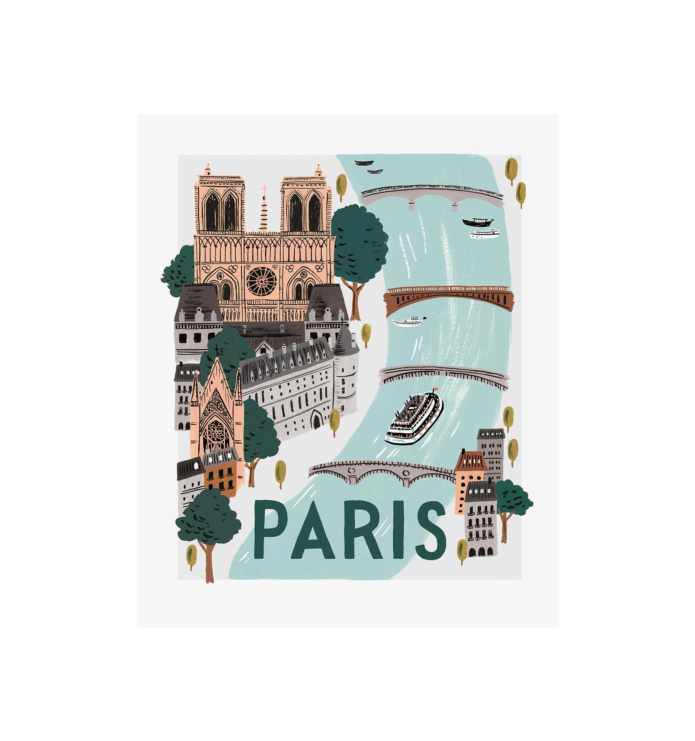 Affiche paris world traveller