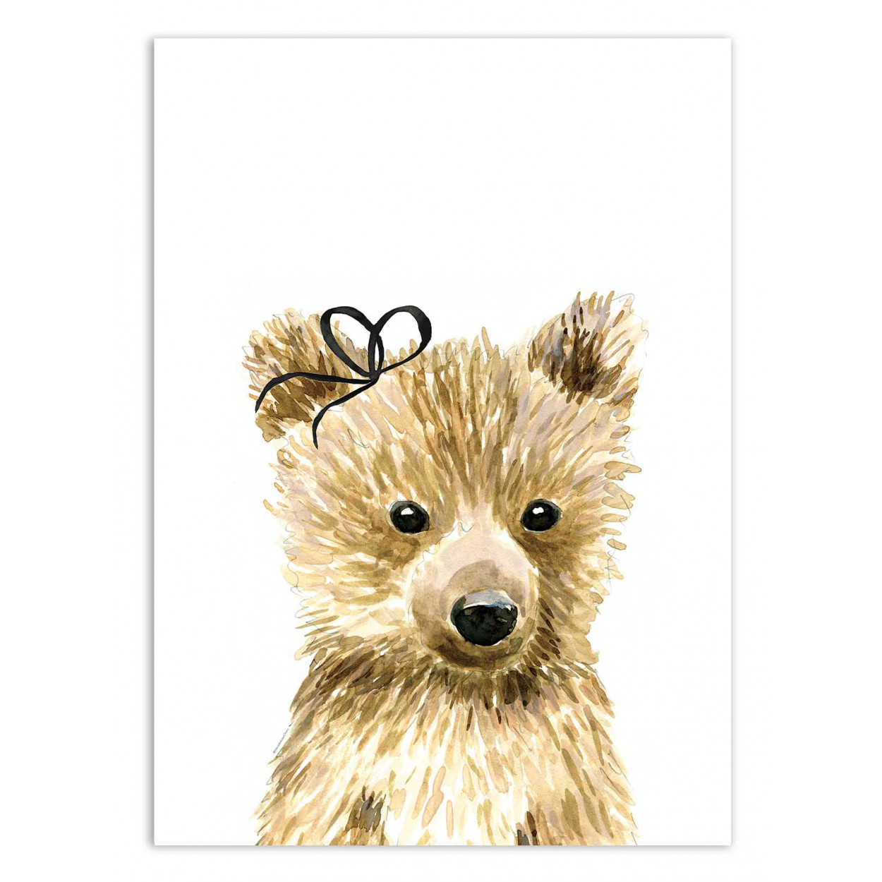 BABY BEAR BOW - MERCEDES LOPEZ CHARRO -  Affiche d'art 50 x 70 cm