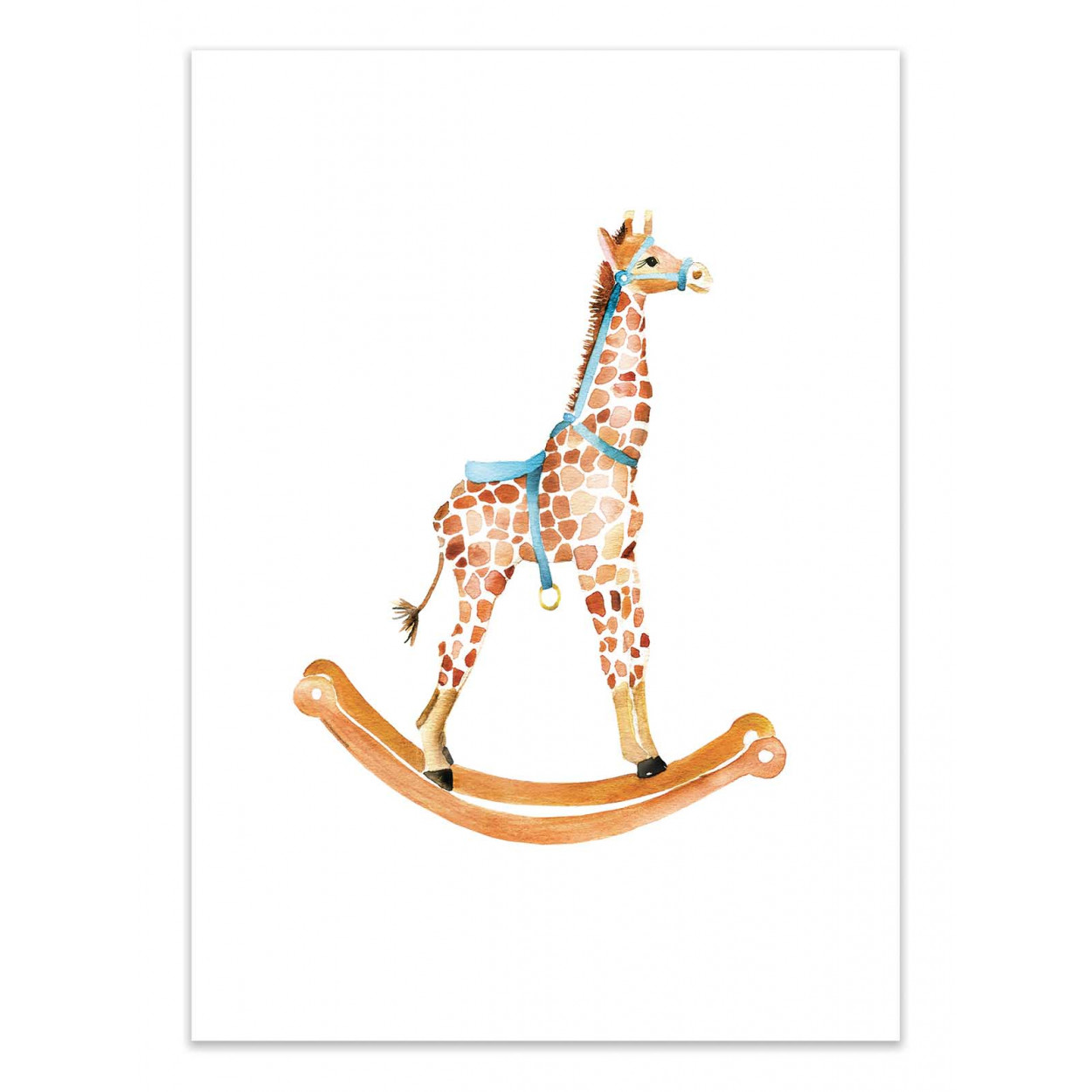 ROCKING GIRAFFE - MERCEDES LOPEZ CHARRO -  Affiche d'art 50 x 70 cm