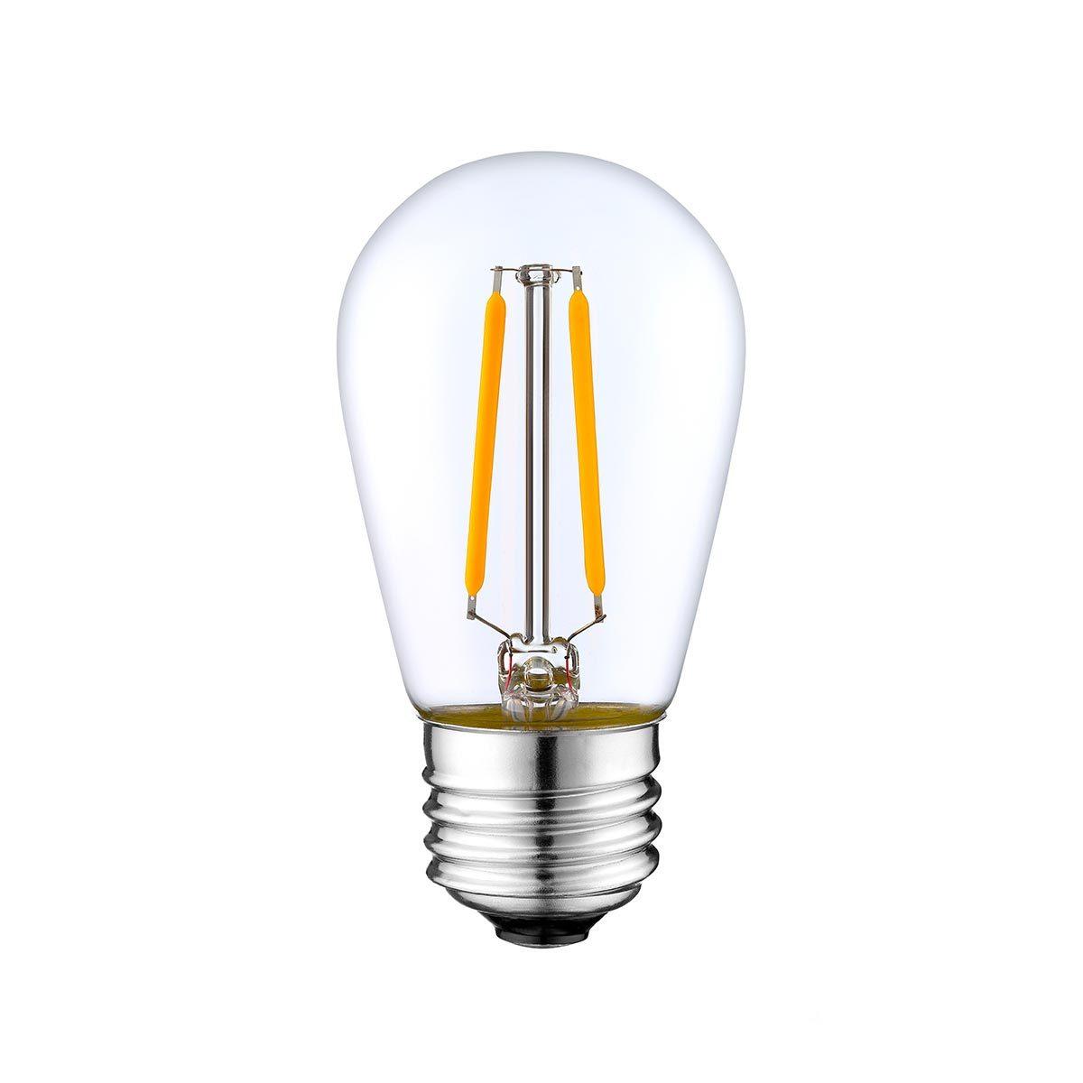 Ampoule LED E27 filament verre transparent H10cm