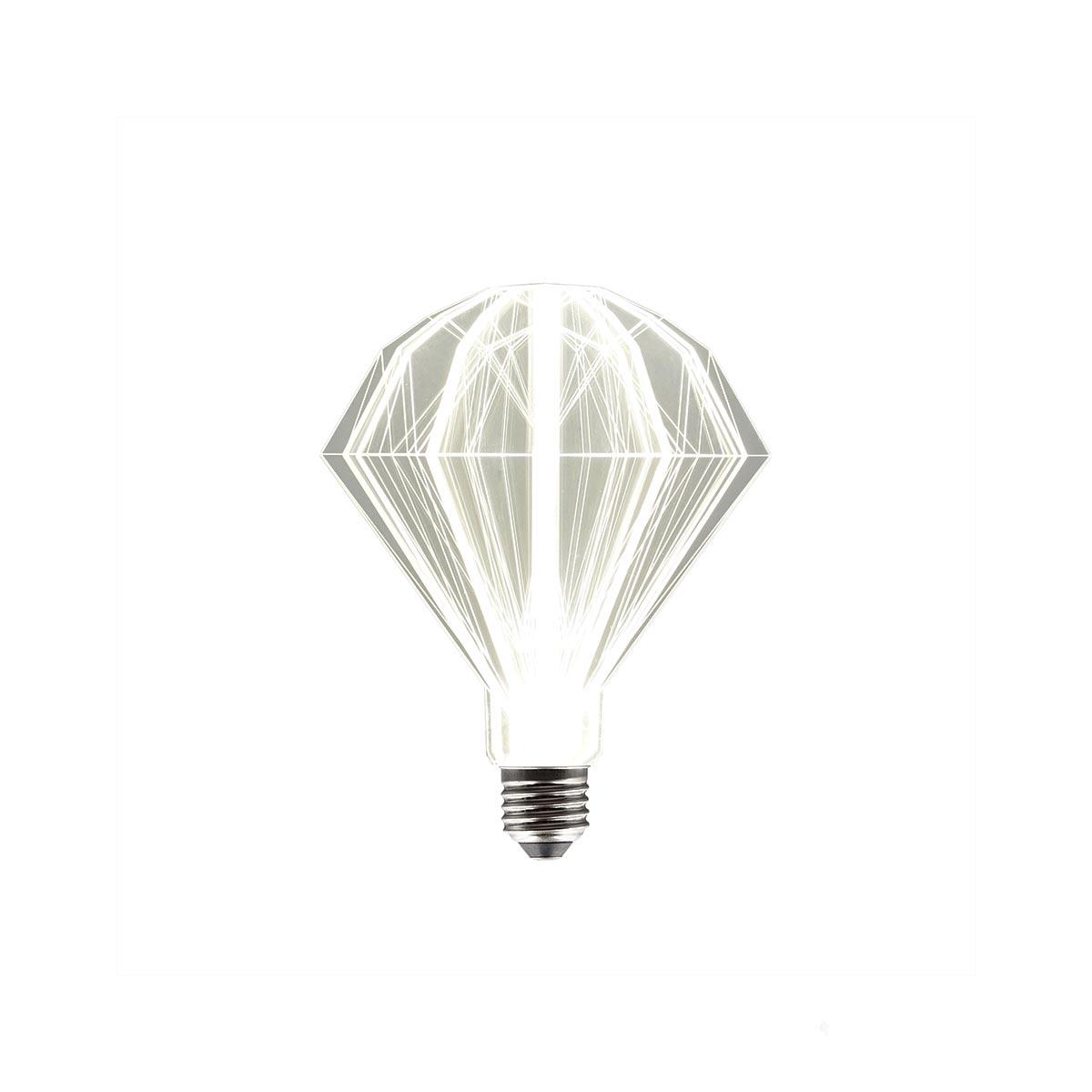 Ampoule LED E27 plastique transparent H21cm