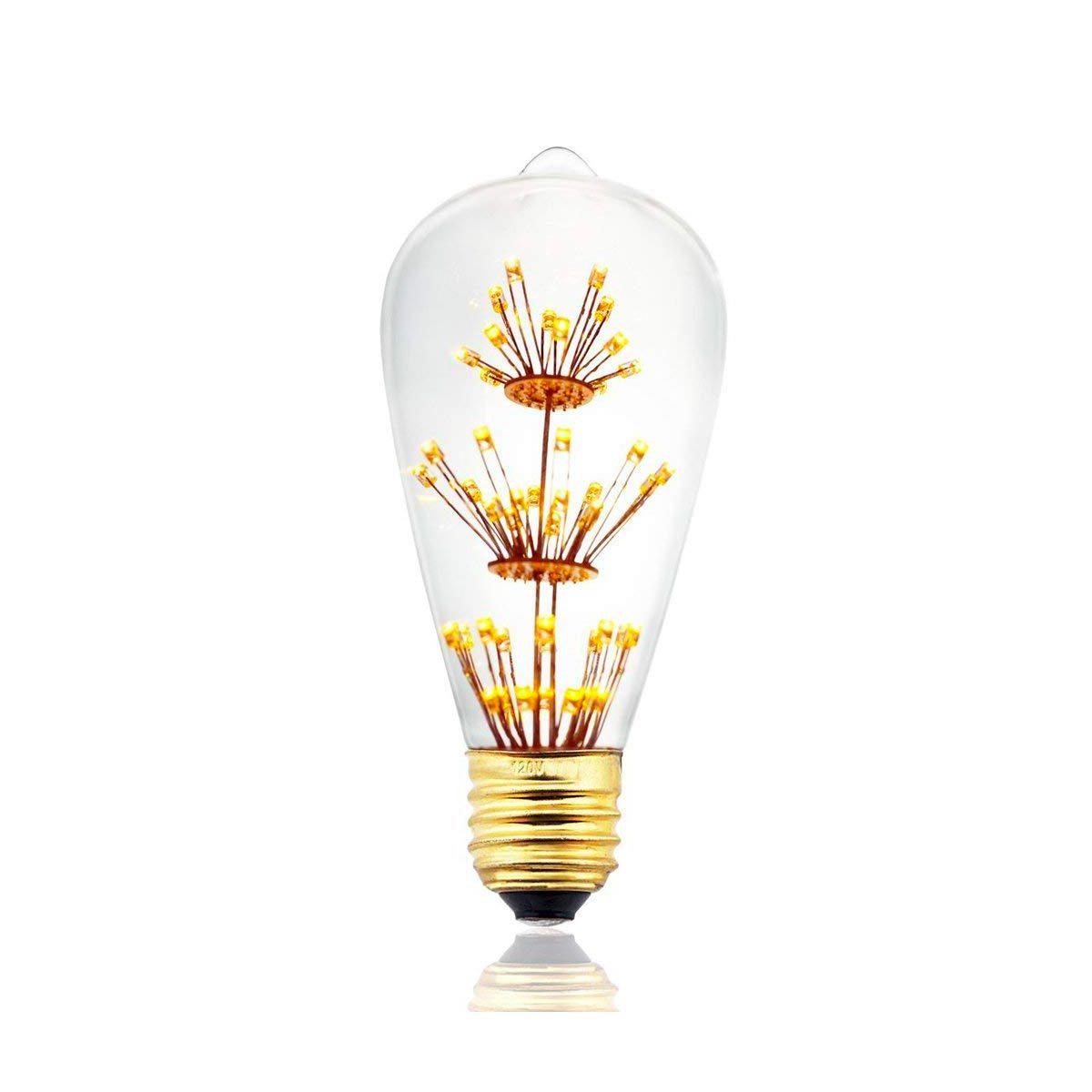Ampoule poire vintage verre transparent H14cm