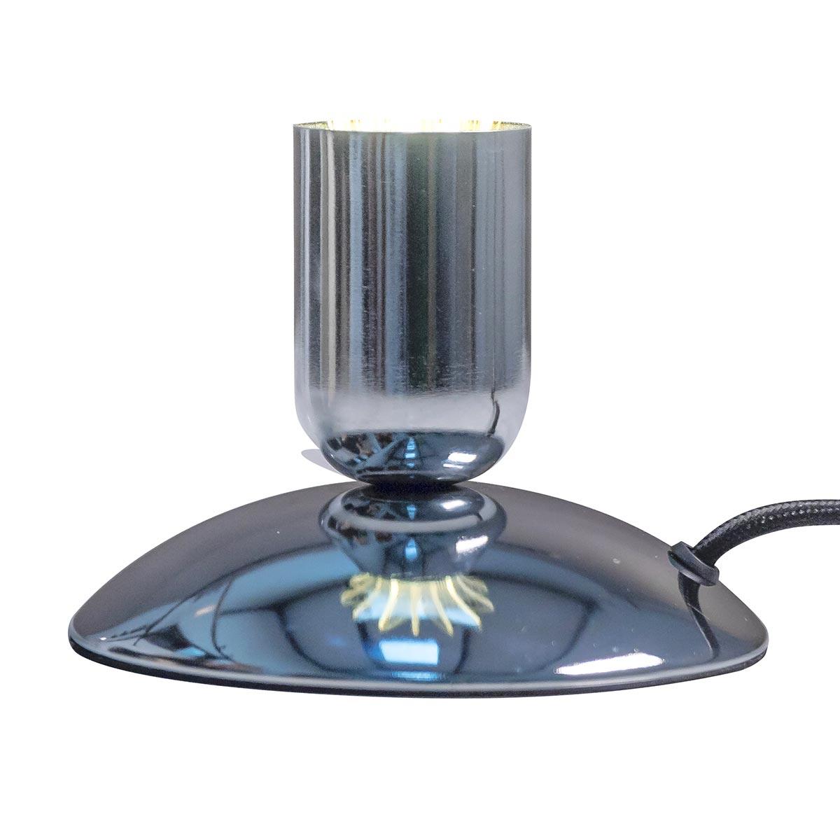 Support de lampe filaire acier gris ∅13cm