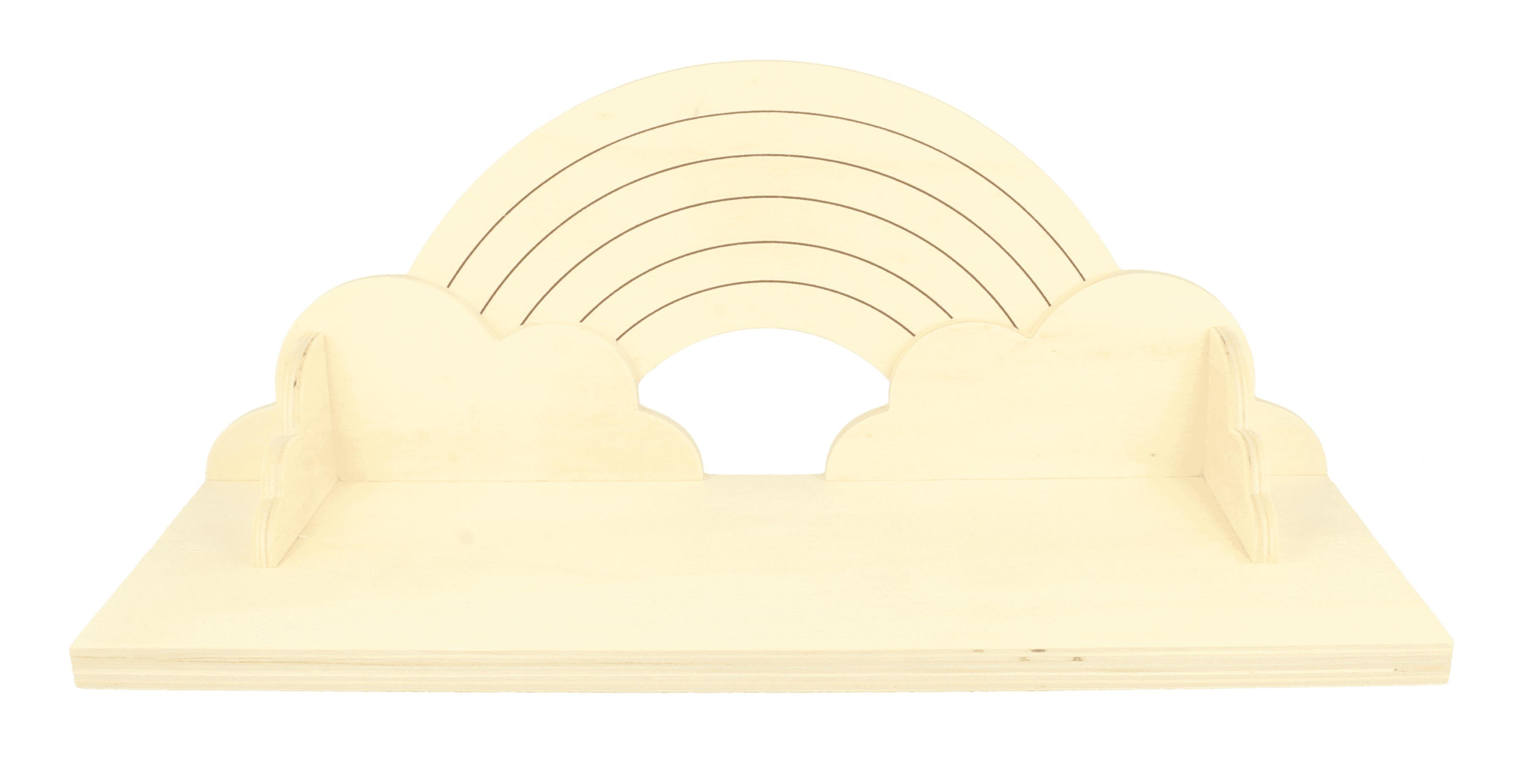 Étagère en bois enfant arc-en-ciel L40cm