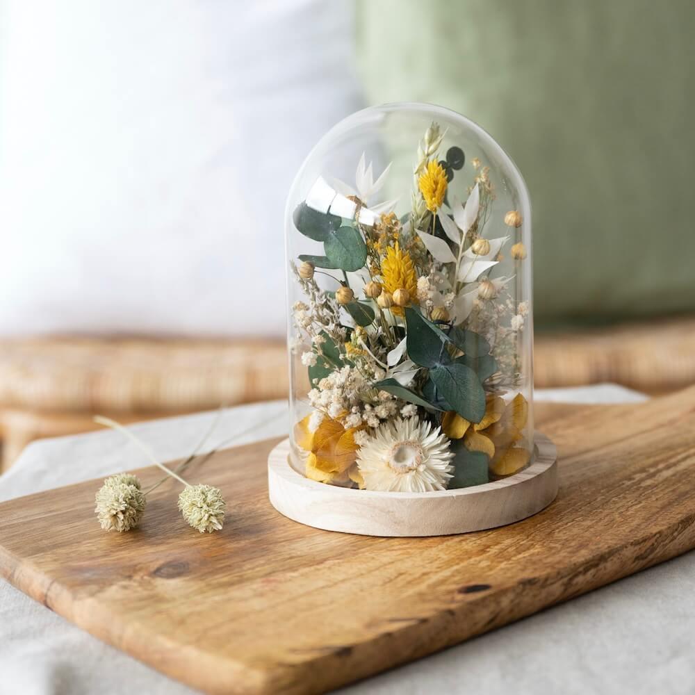 Cloche fleurs séchées Ambroise H16cm