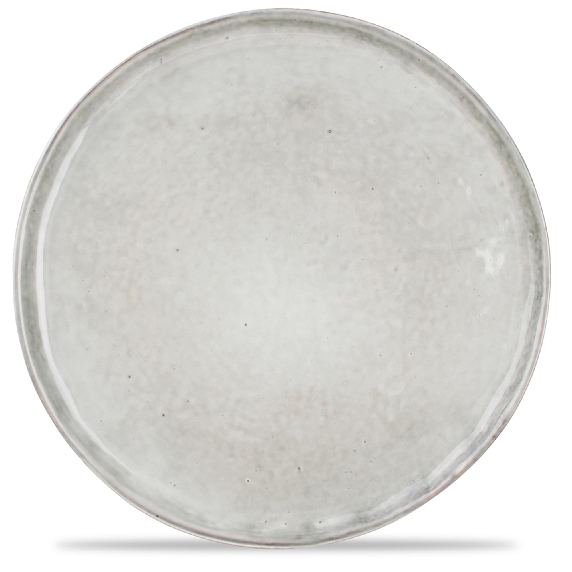 Lot de 4 - Assiette plate vert Ø 20cm
