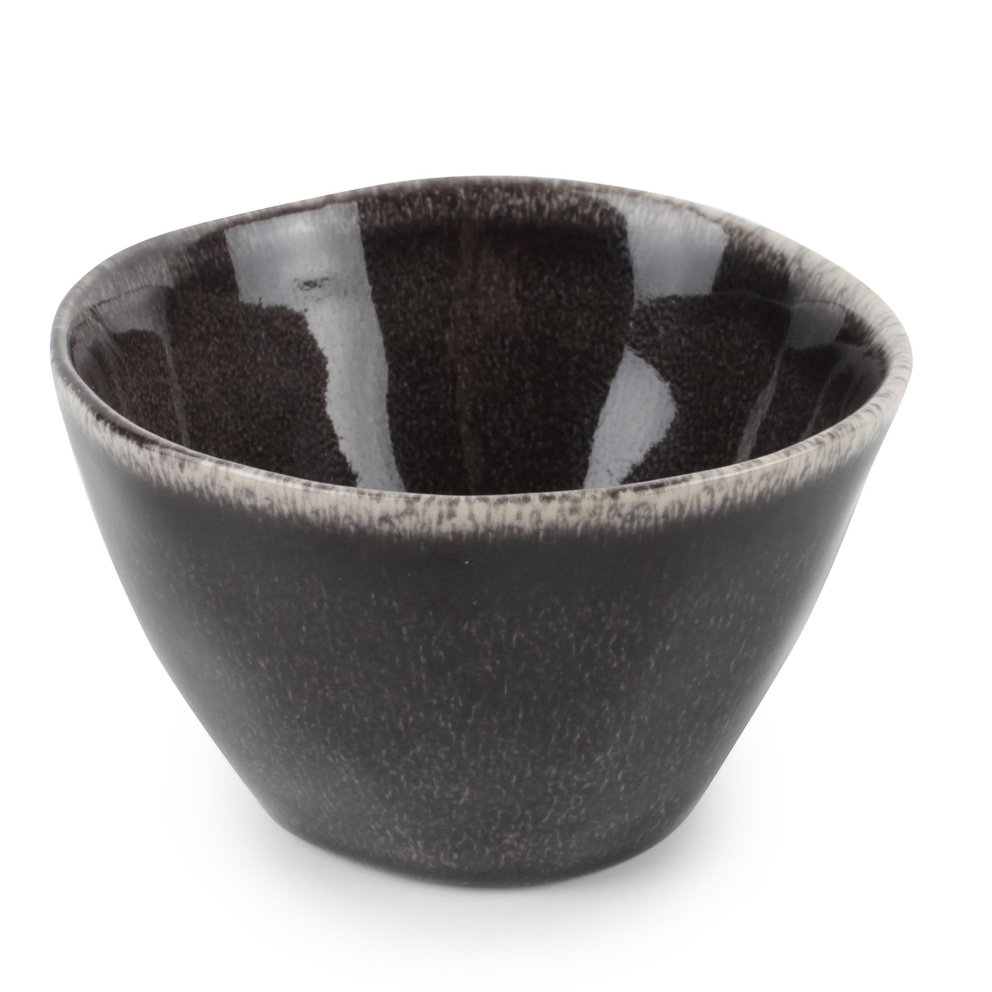 Lot de 4 - Bol noir Ø 10,5cm