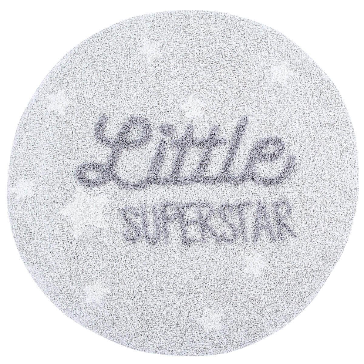 Tapis coton rond lavable little superstar D120cm
