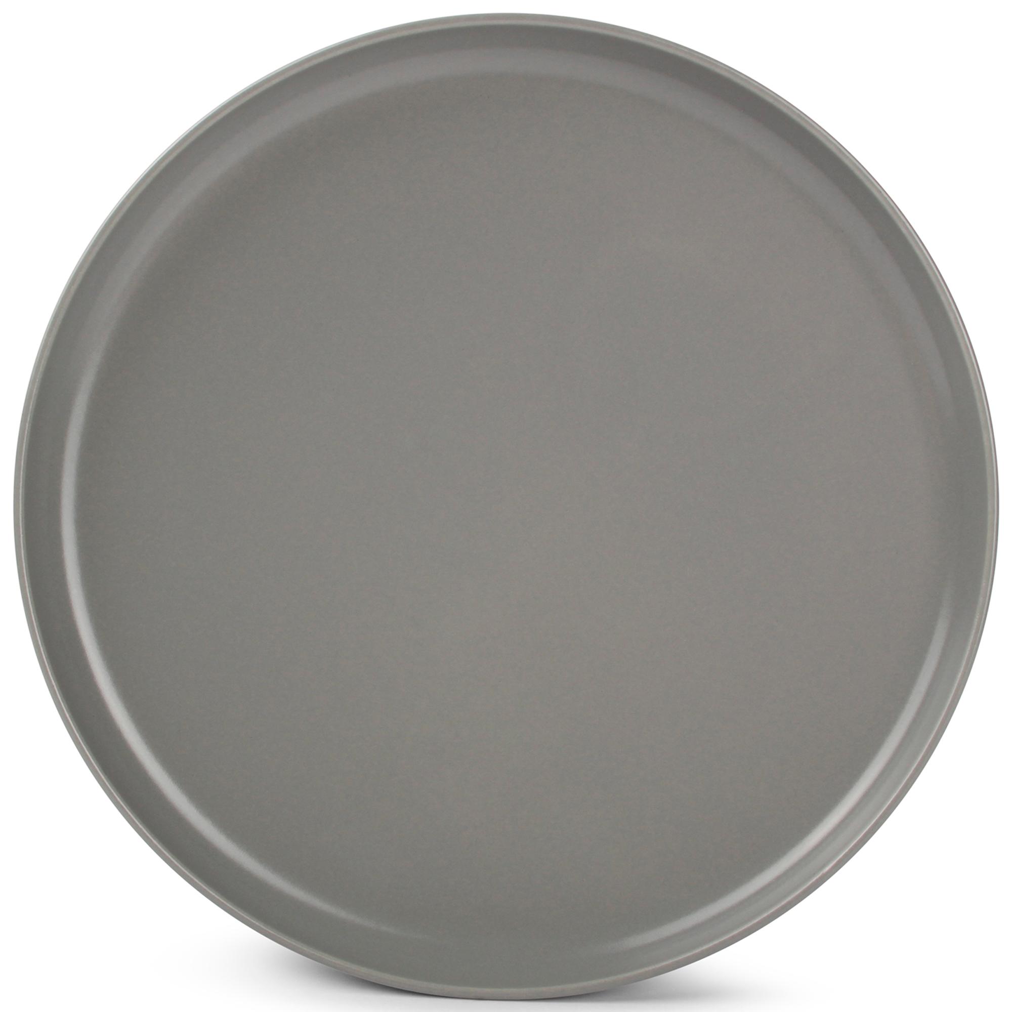 Lot de 6 - Assiette plate gris Ø 27cm