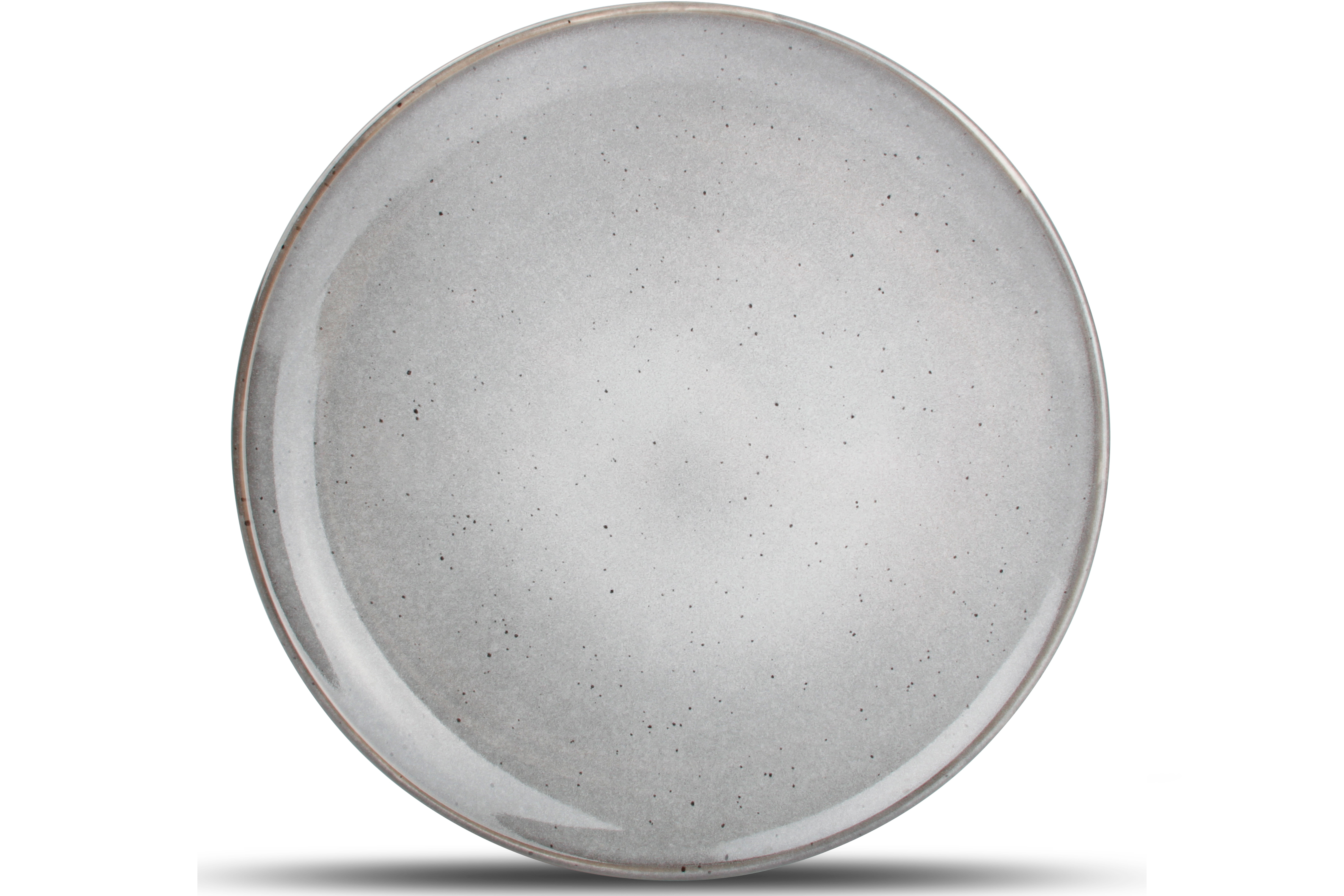 Lot de 4 - Assiette plate gris Ø 26cm