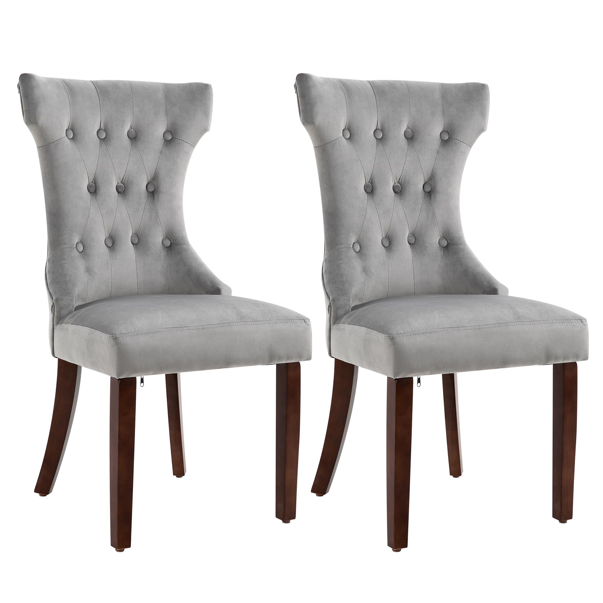 Lot de 2 chaises de salle à manger style chesterfield