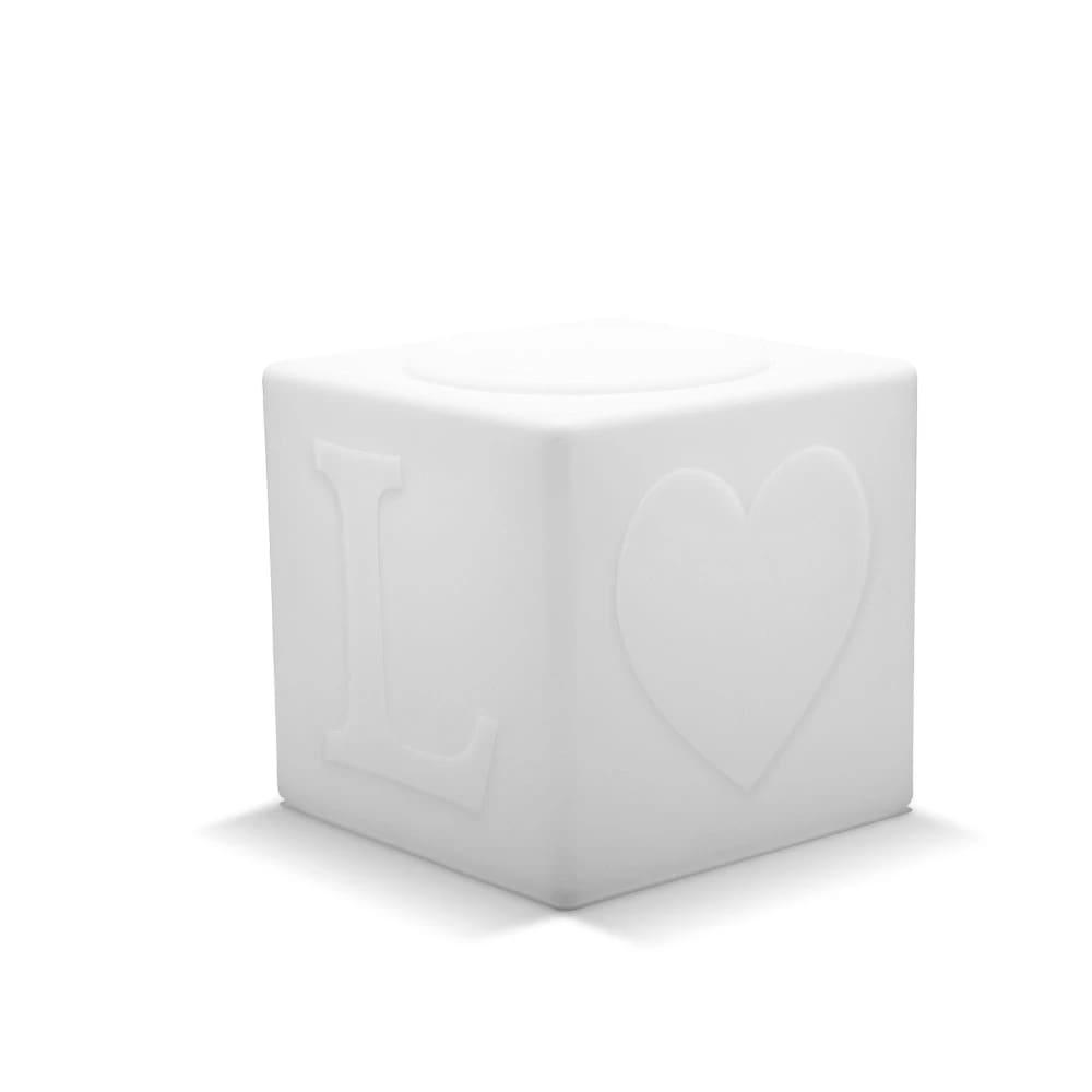 Cube LED sans fil avec télécommande H43cm