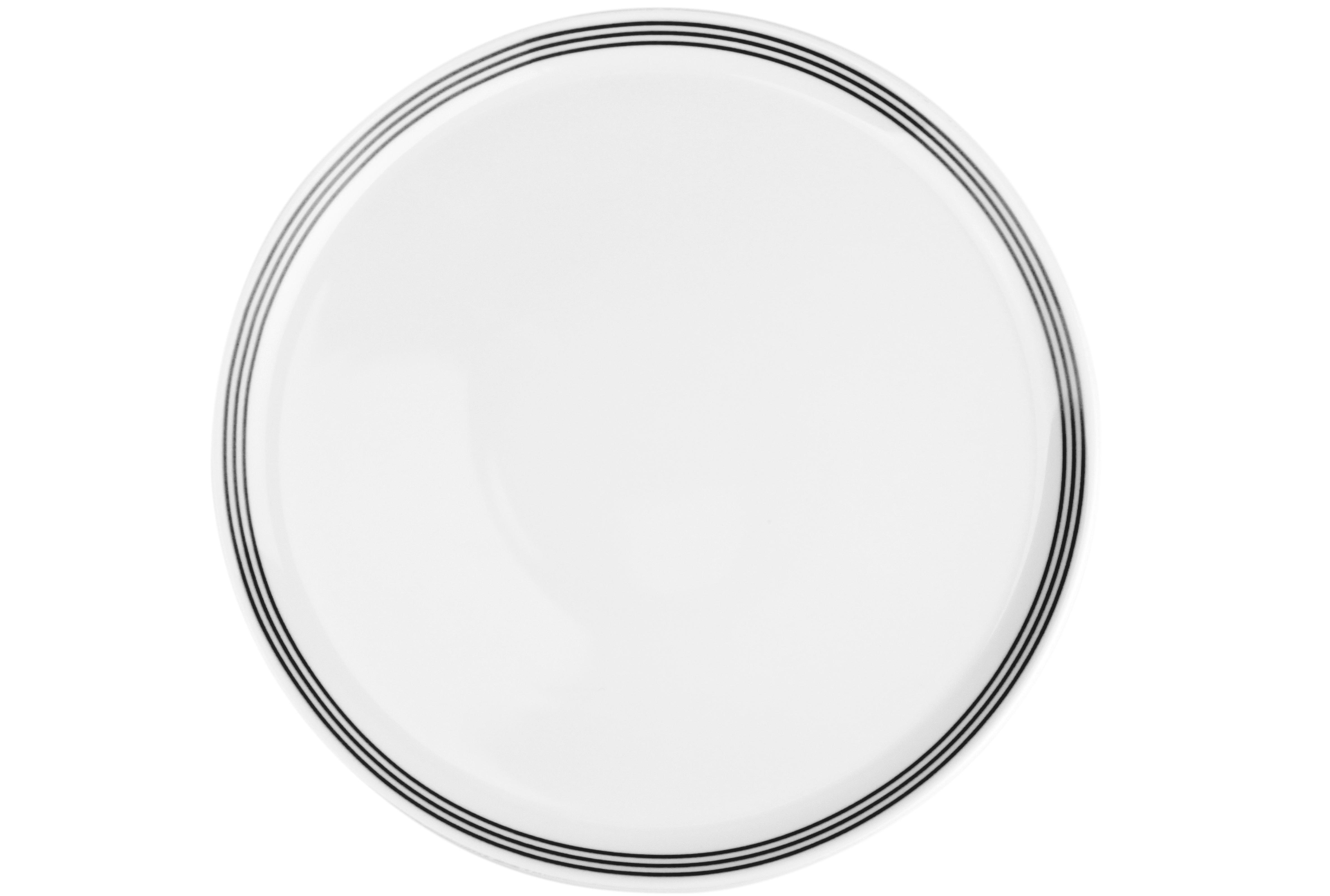 Lot de 6 - Assiette plate noir Ø 26cm