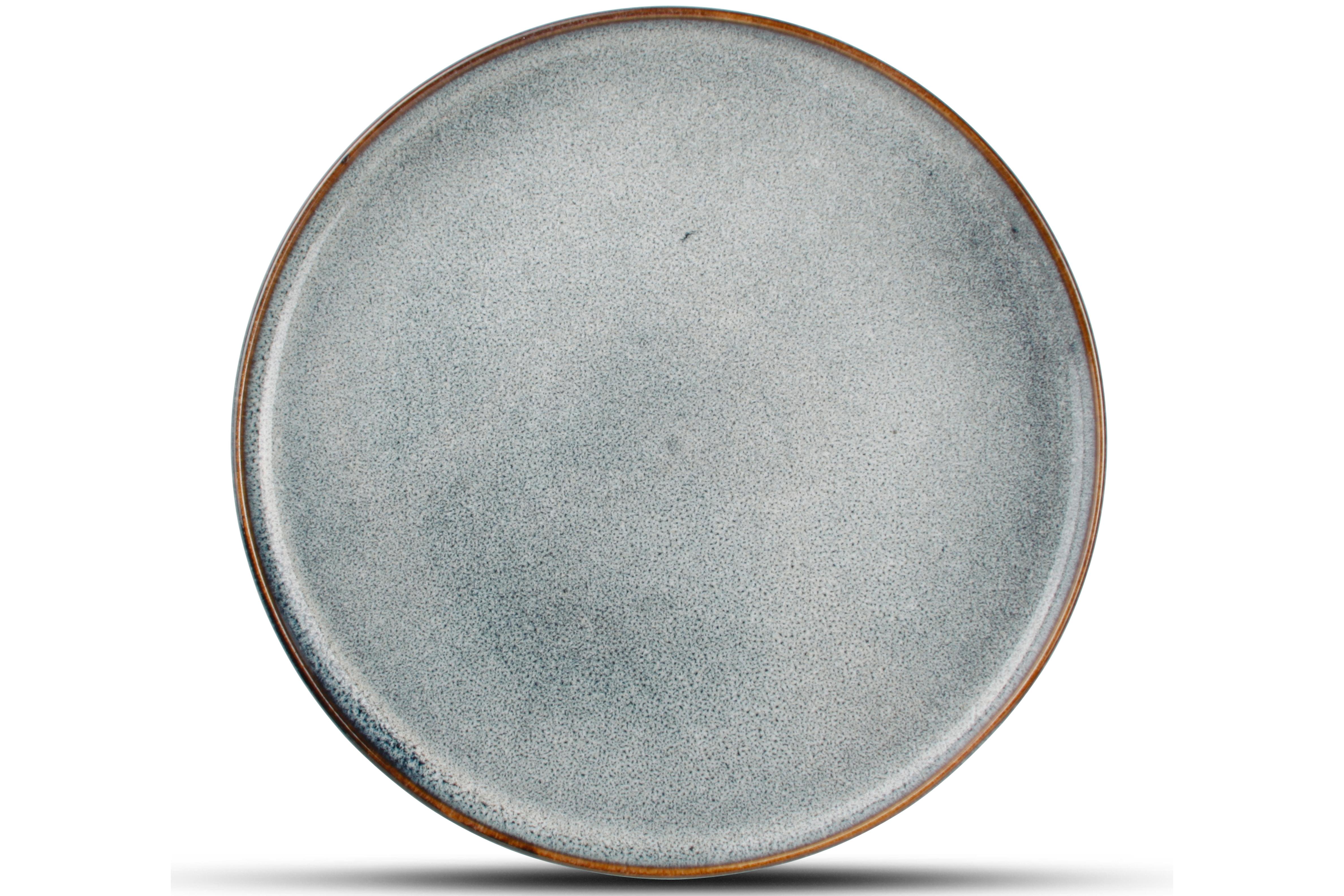 Lot de 4 - Assiette plate bleu Ø 21cm