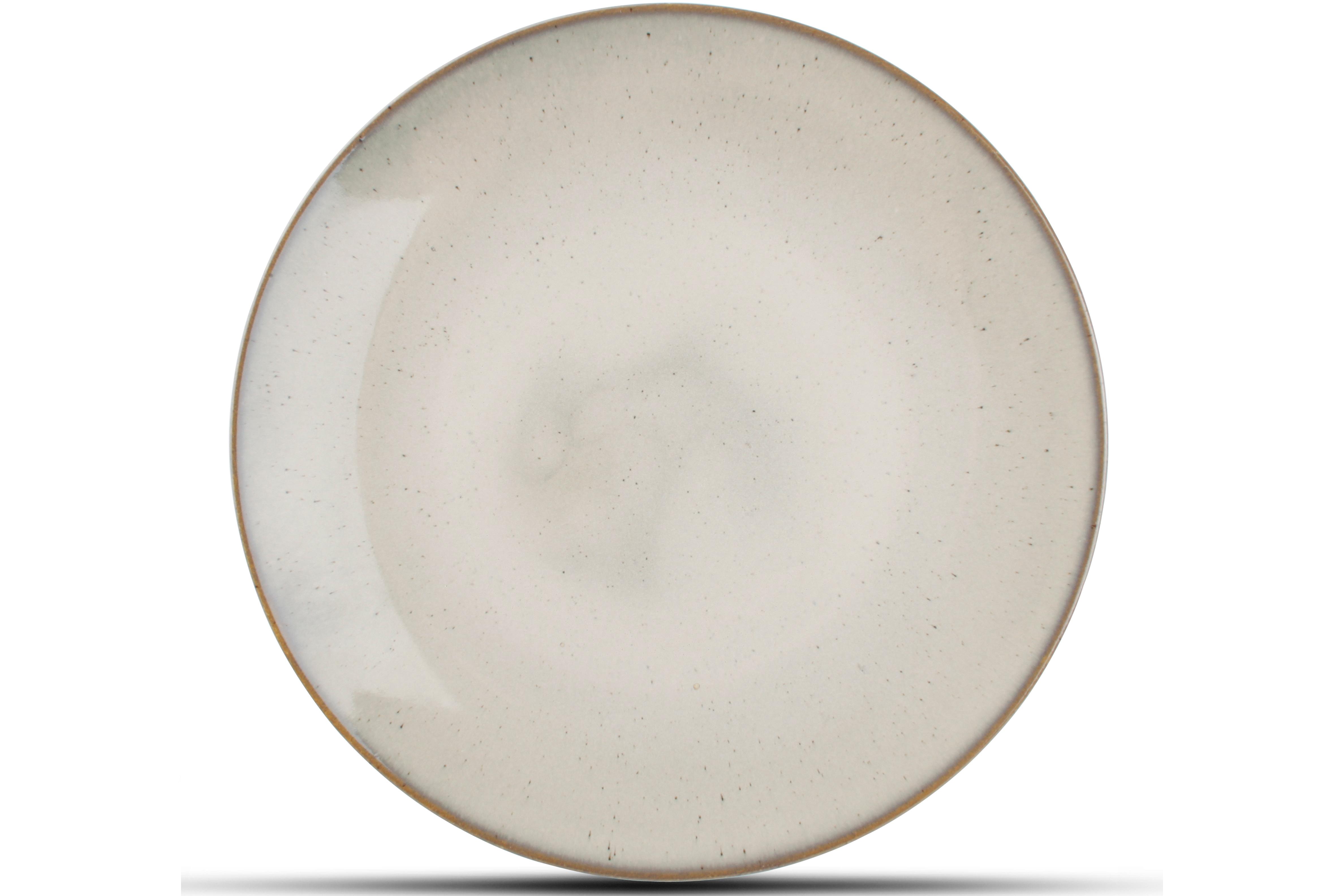 Lot de 4 - Assiette plate beige Ø 27cm