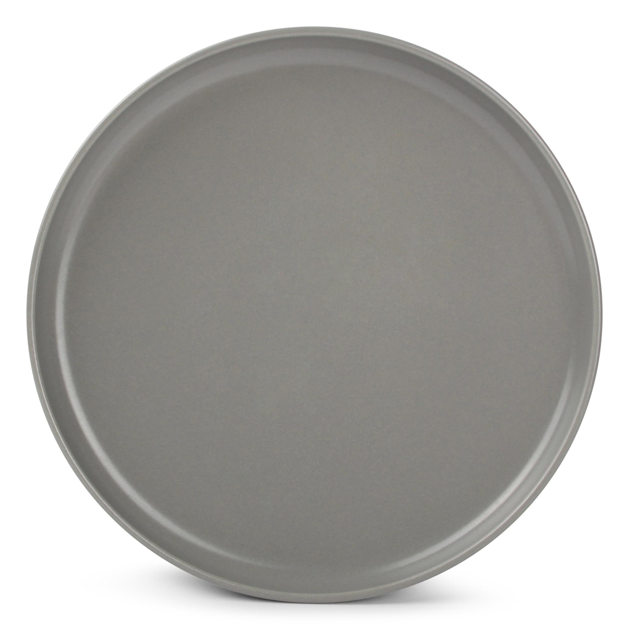 Lot de 6 - Assiette plate gris Ø 20cm