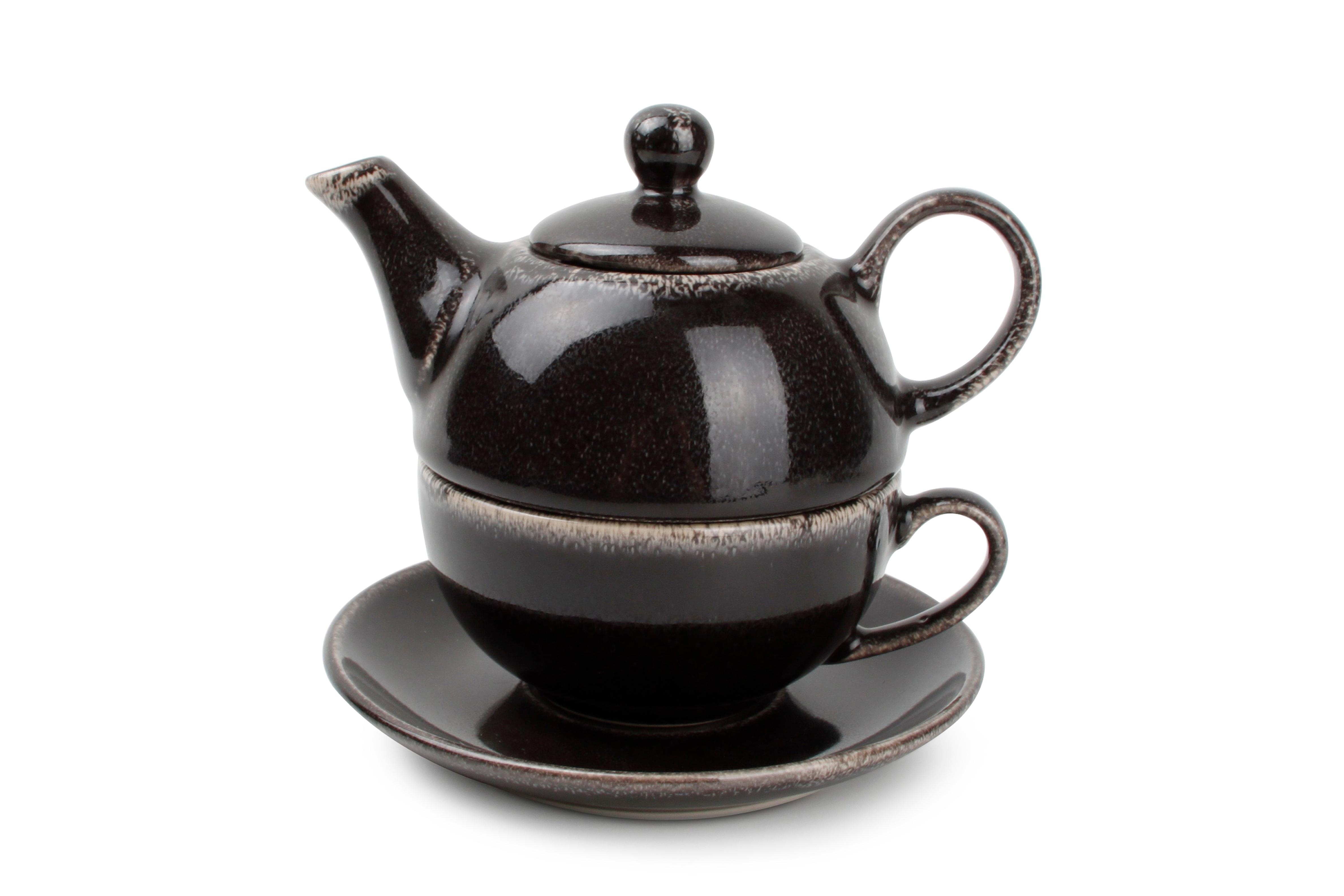 Service à thé noir Ø 11.7cm