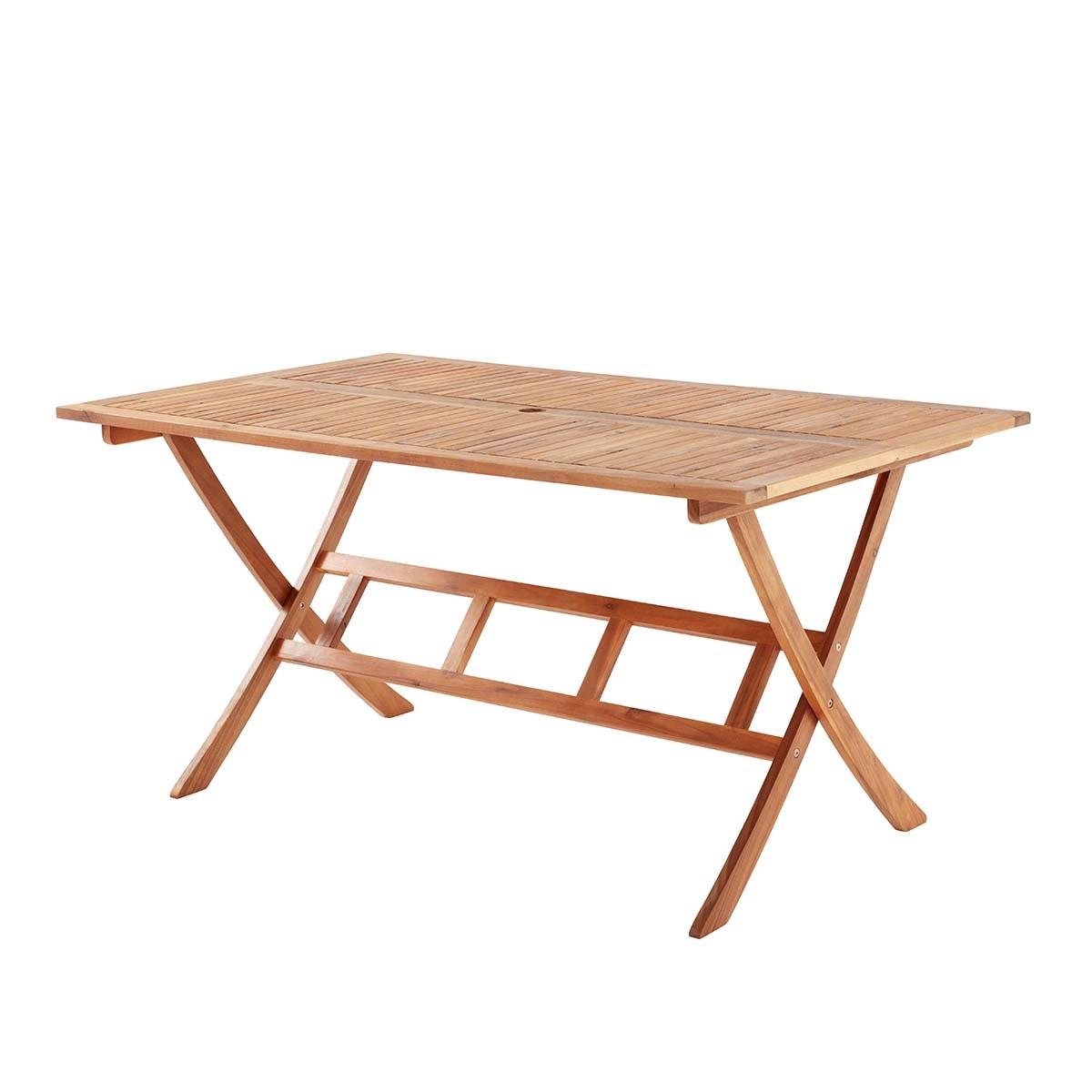 Table de jardin en acacia 6 personnes