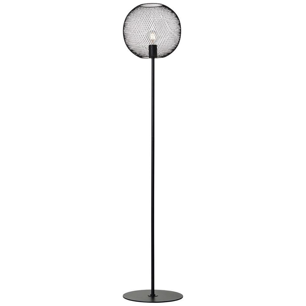 Lampadaire métal noir H146cm