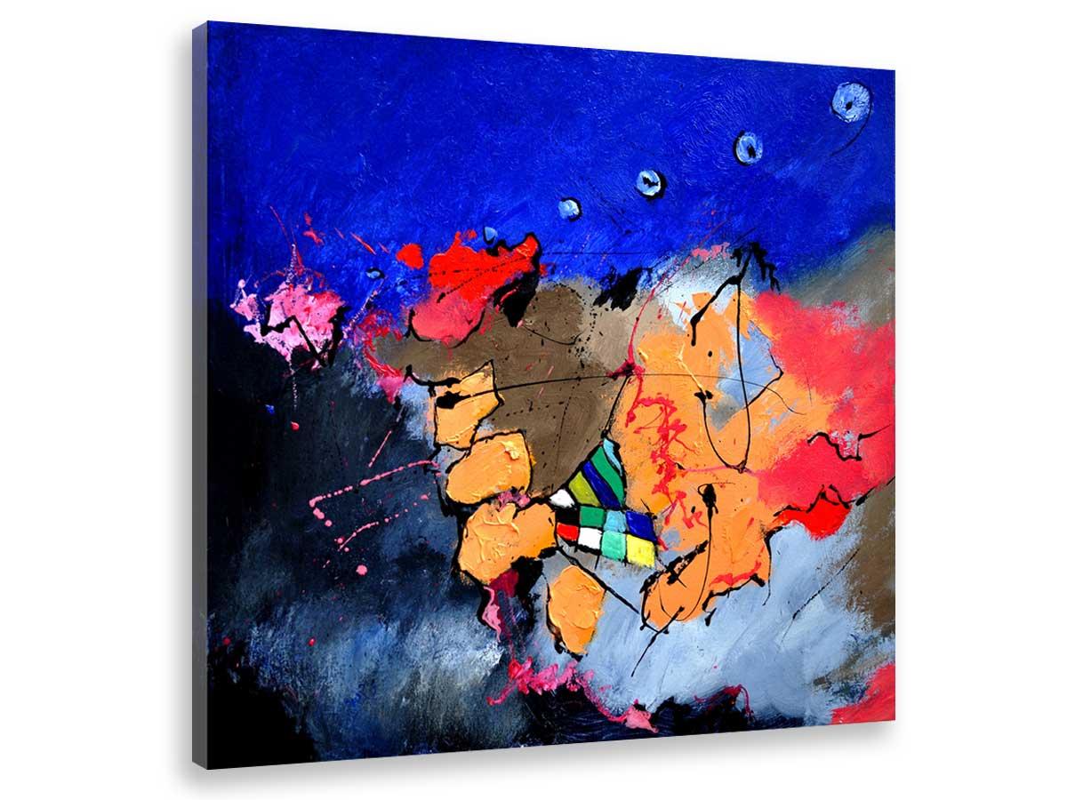 Tableau abstrait jeu de couleurs Toile imprimée