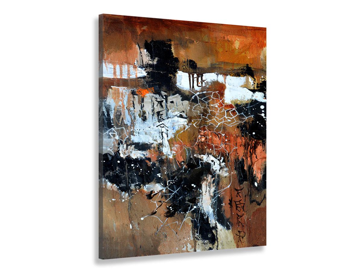 Tableau abstrait terre brune Toile imprimée
