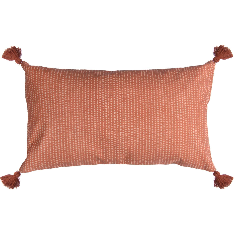 Housse de coussin en coton 50x30 Terracotta