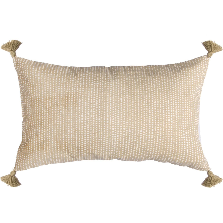 Housse de coussin en coton 50x30 Sable