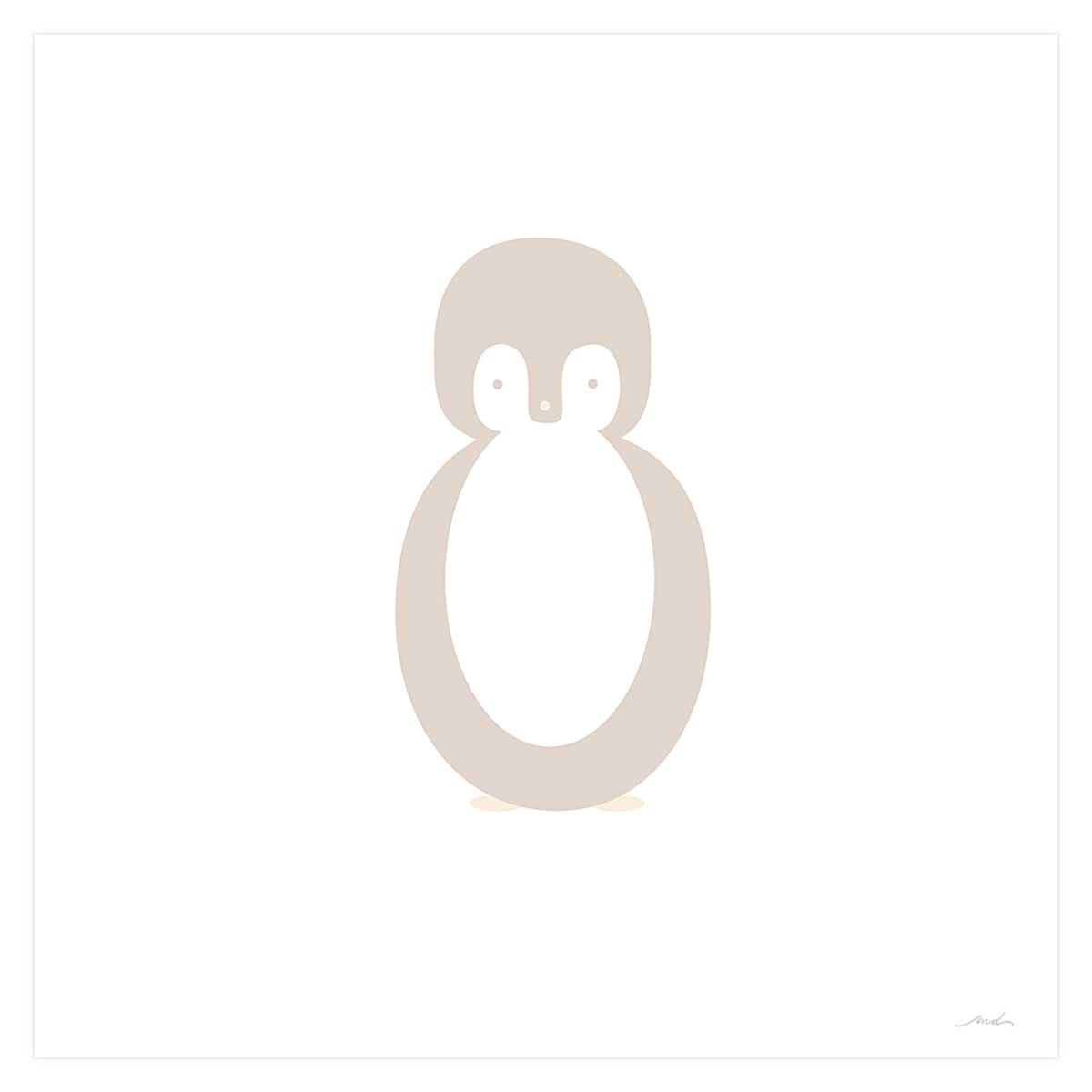 Affiche seule enfant pingouin story 80x80cm