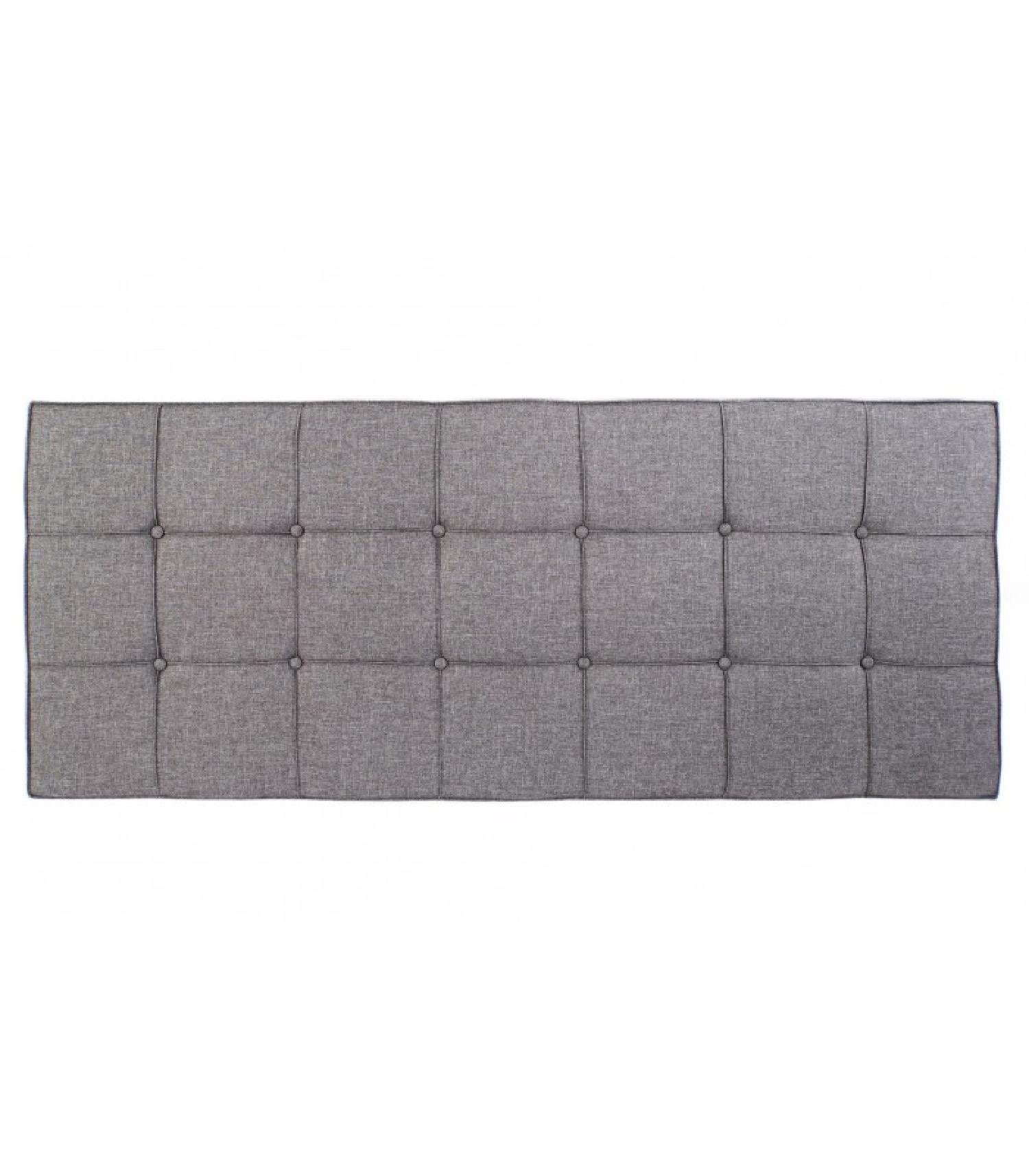Tête de lit capitonnée carrés polyester gris L160cm