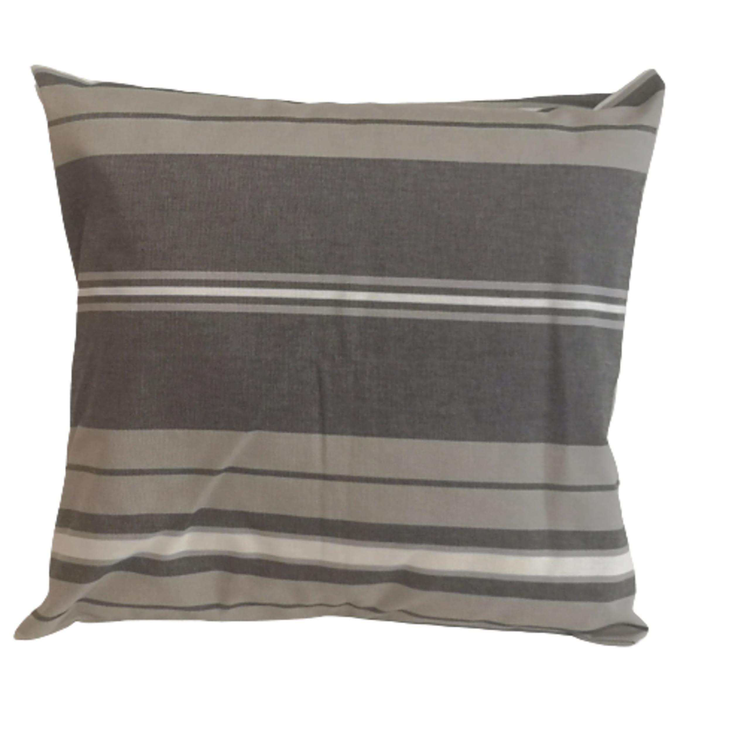 1 lot de housse de coussin 100% coton gris 45 x 45 cm + 40x60cm