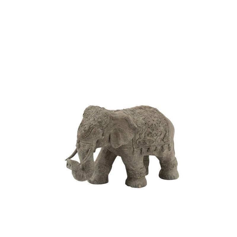 Éléphant Indien magnésie gris H33,5cm