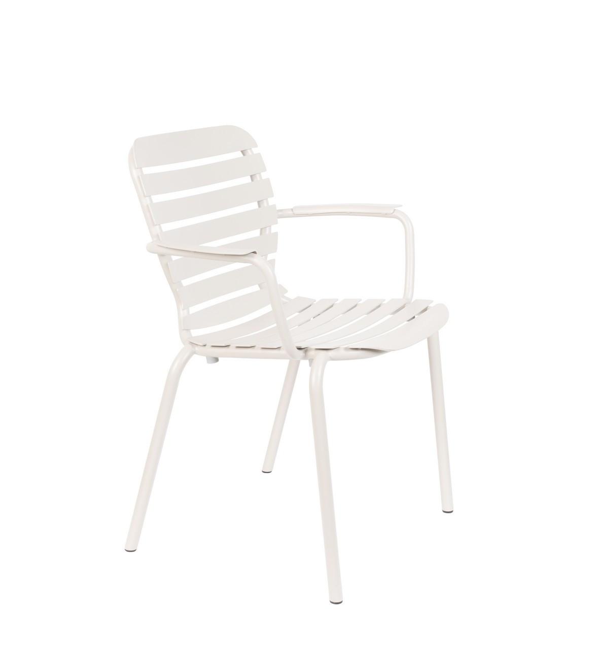 Chaise avec accoudoirs couleur argile