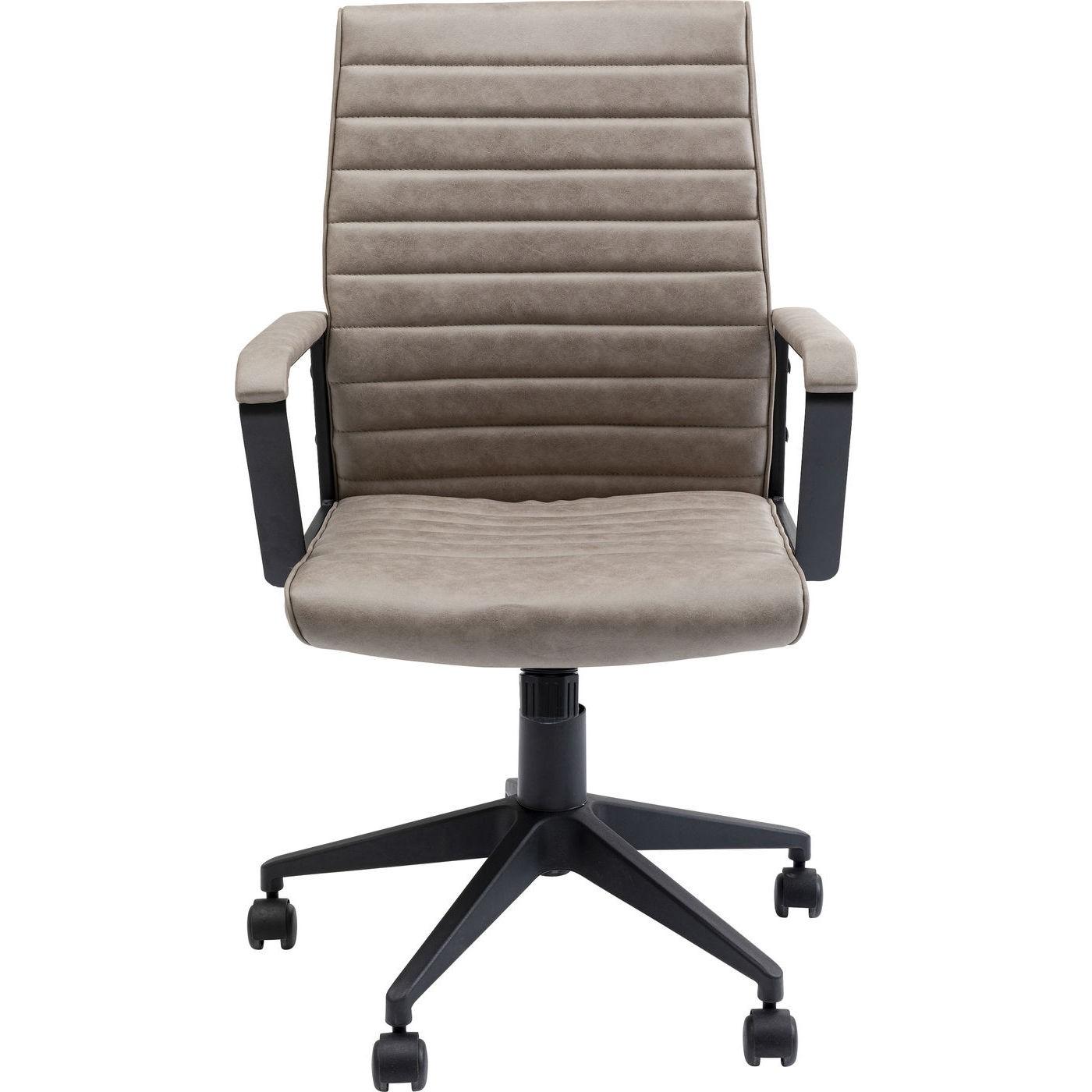 Chaise de bureau pivotante réglable à roulettes taupe