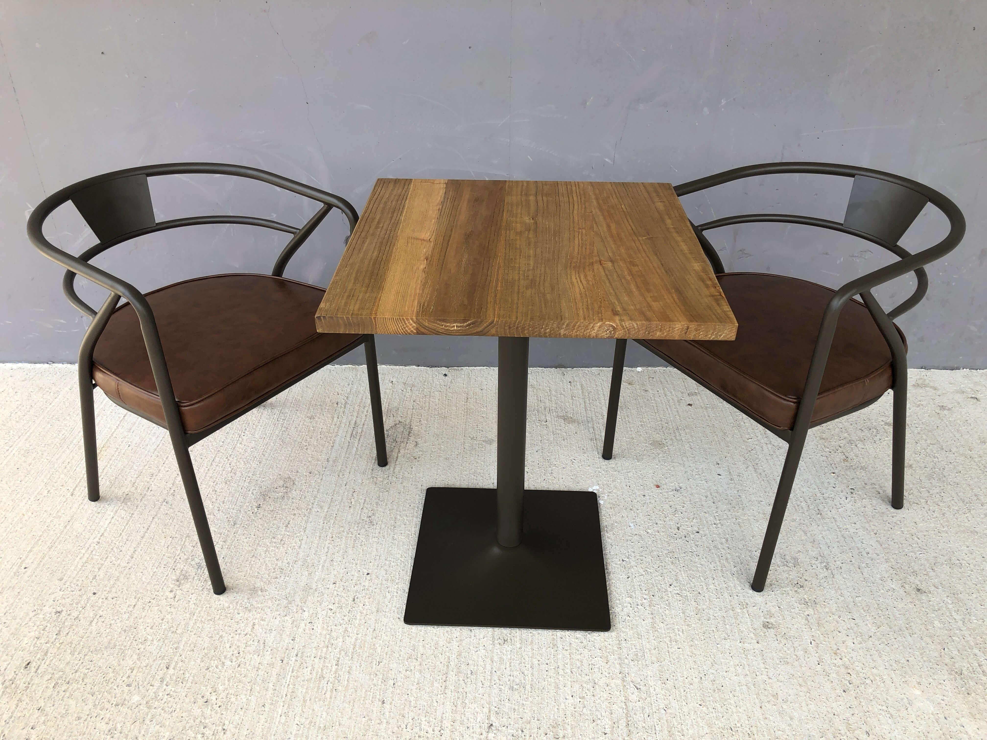 Table carree bois massif L60
