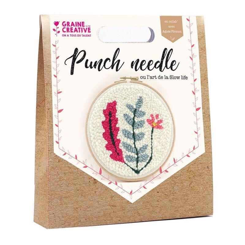 Coffret punch needle végétal D20cm