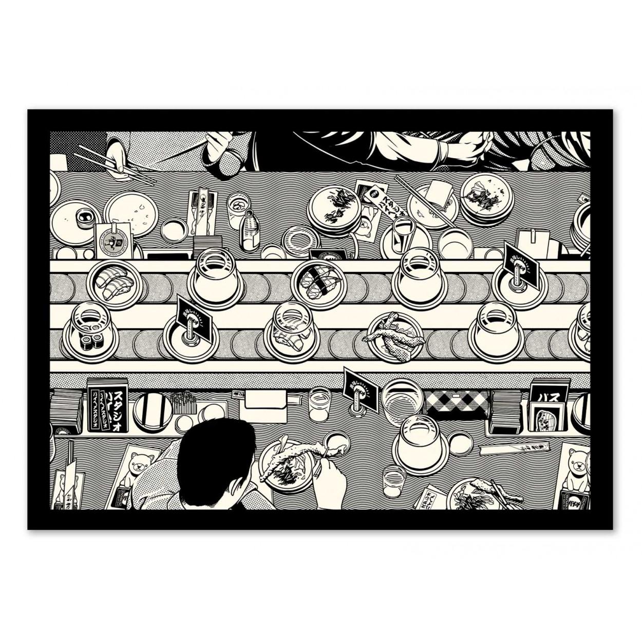 SUSHI BAR - Affiche d'art 50 x 70 cm