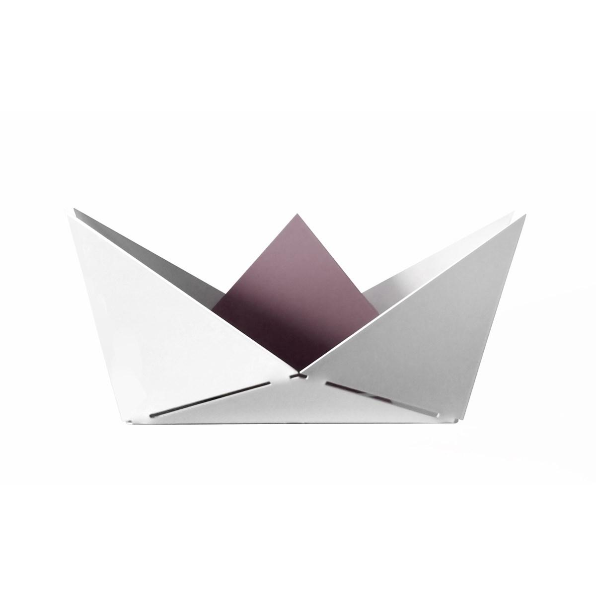 Vide poche en métal violet clair