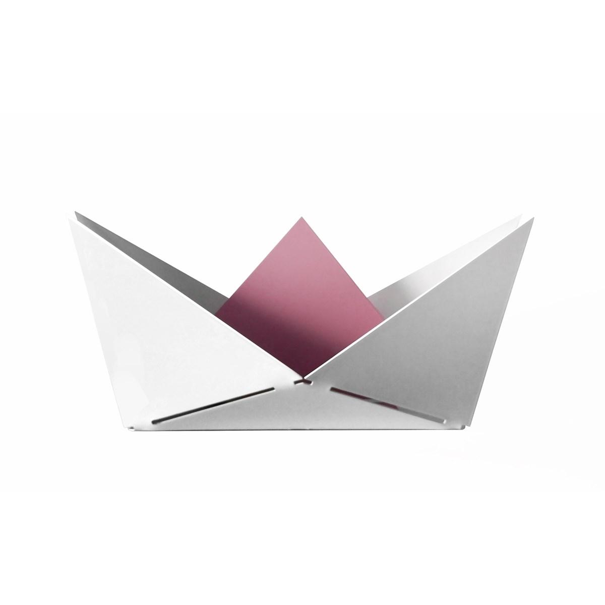 Vide poche en métal rose pâle