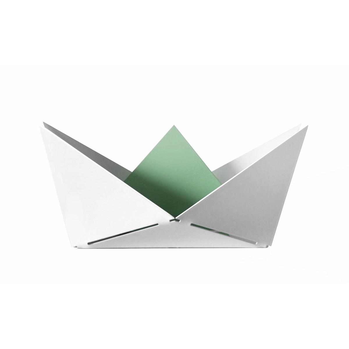 Vide poche en métal vert