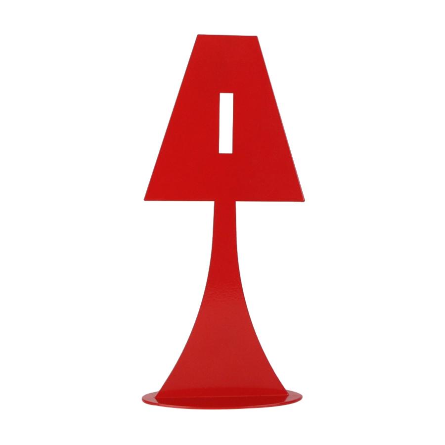 Bougeoir en métal rouge