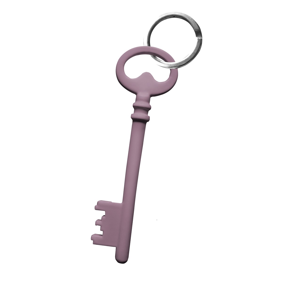 Porte clefs en acier violet clair