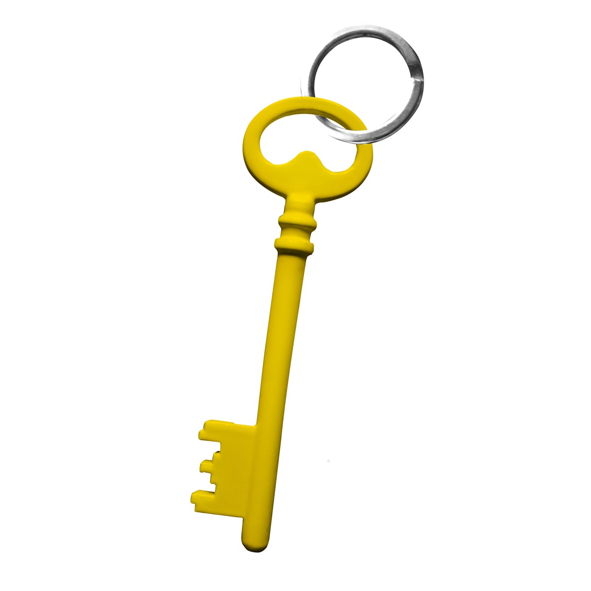 Porte clefs en acier jaune