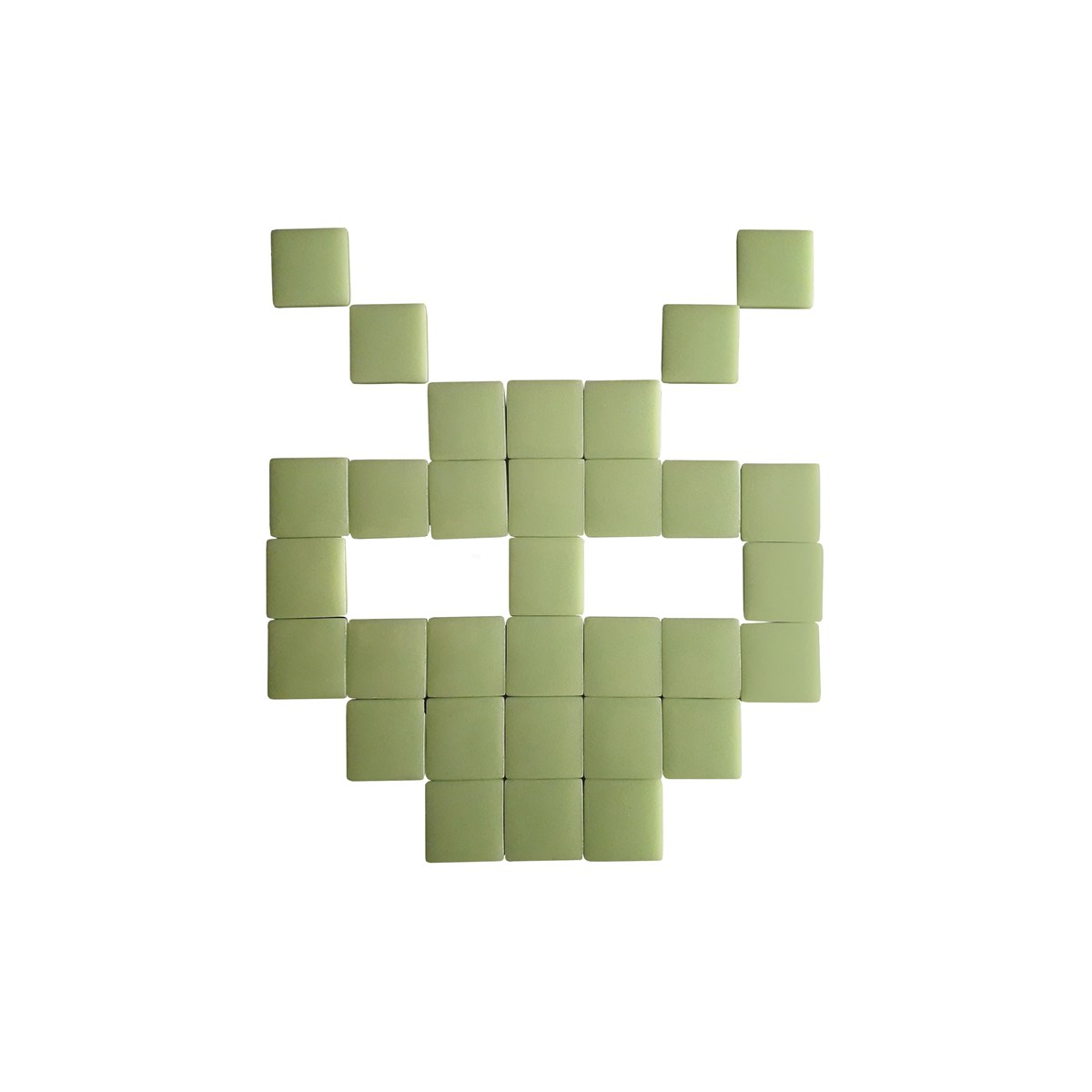 Mosaïque adhésive en verre vert clair