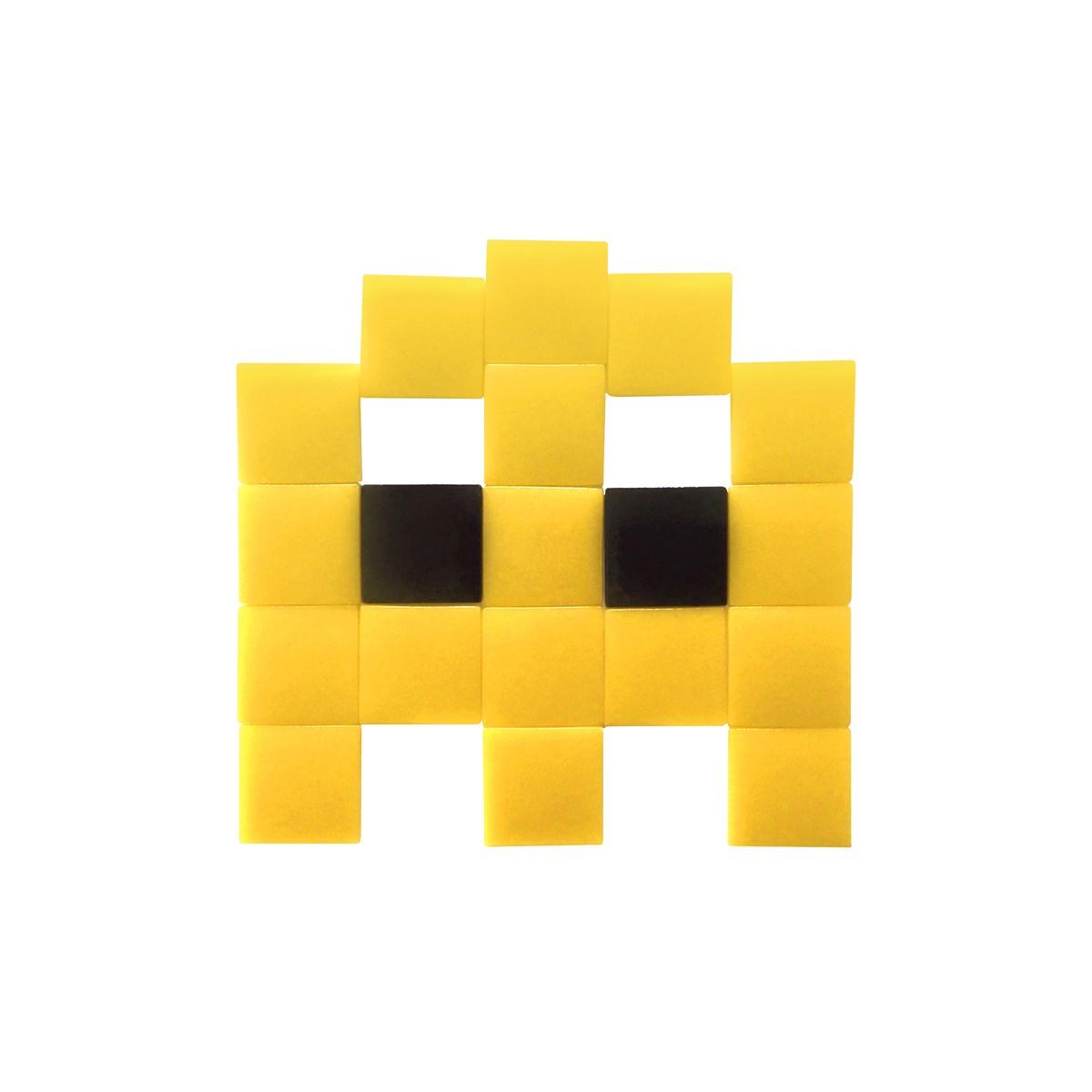 Mosaïque adhésive en verre jaune