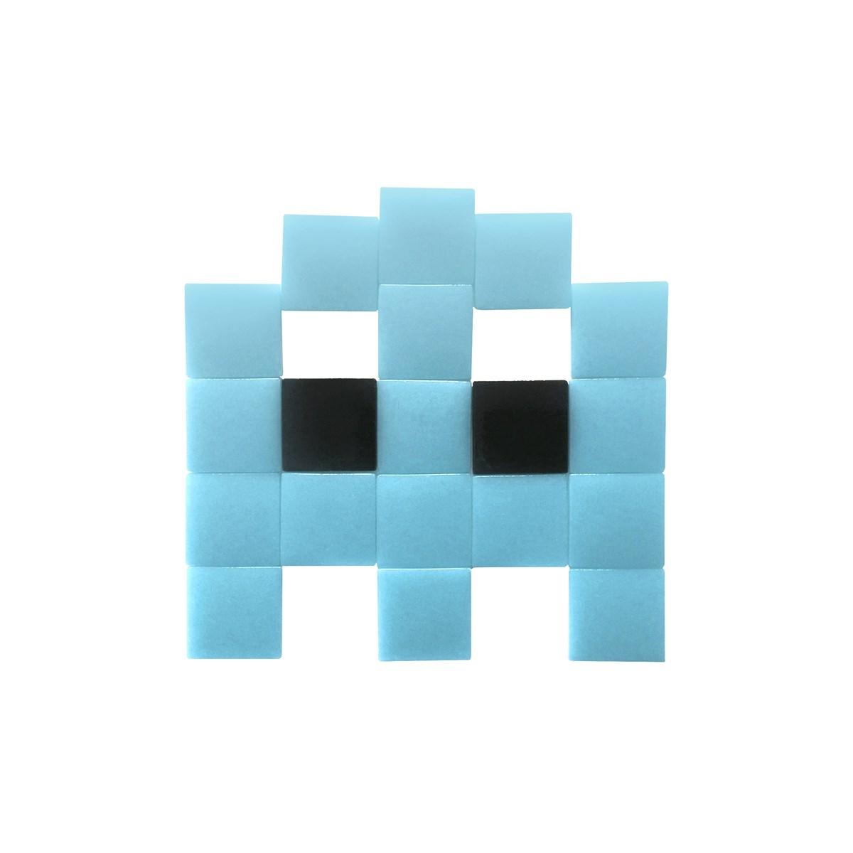 Mosaïque adhésive en verre bleu clair