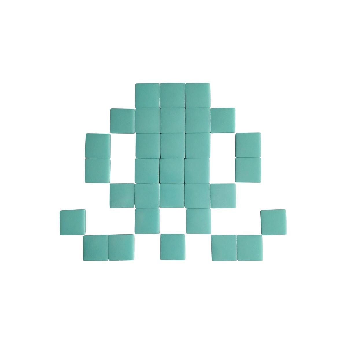 Mosaïque adhésive en verre bleu turquoise