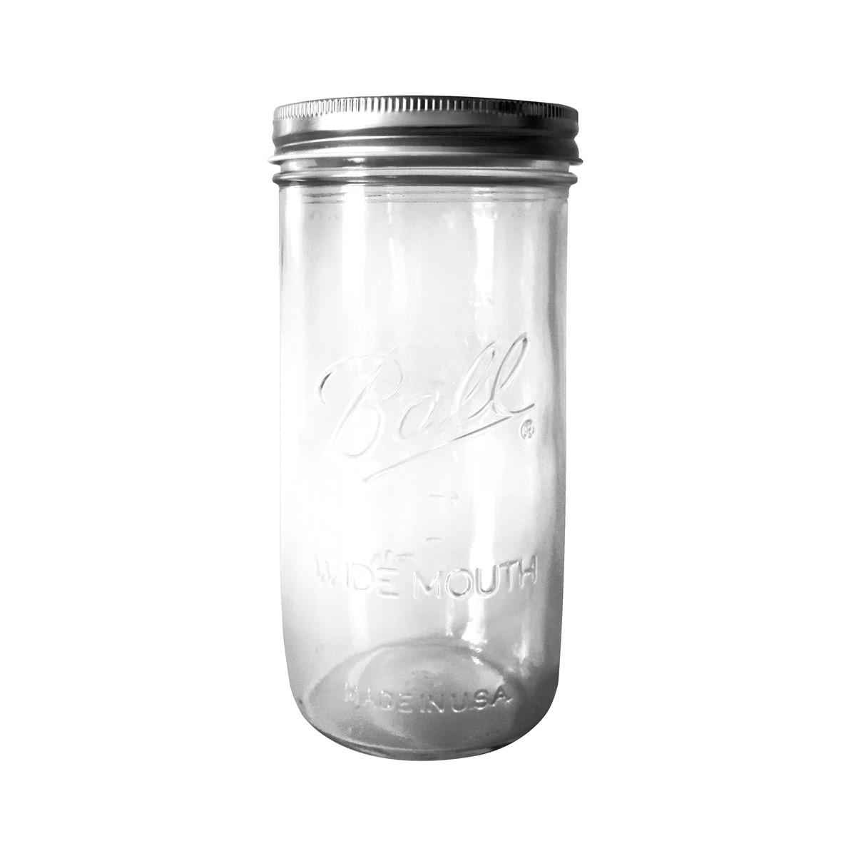 Lampe bocal en verre gris