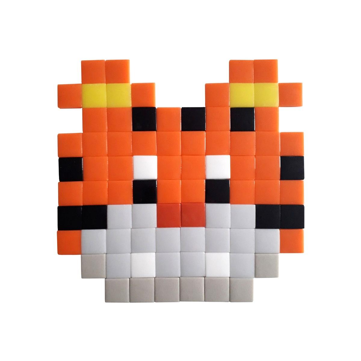 Mosaïque adhésive en verre orange