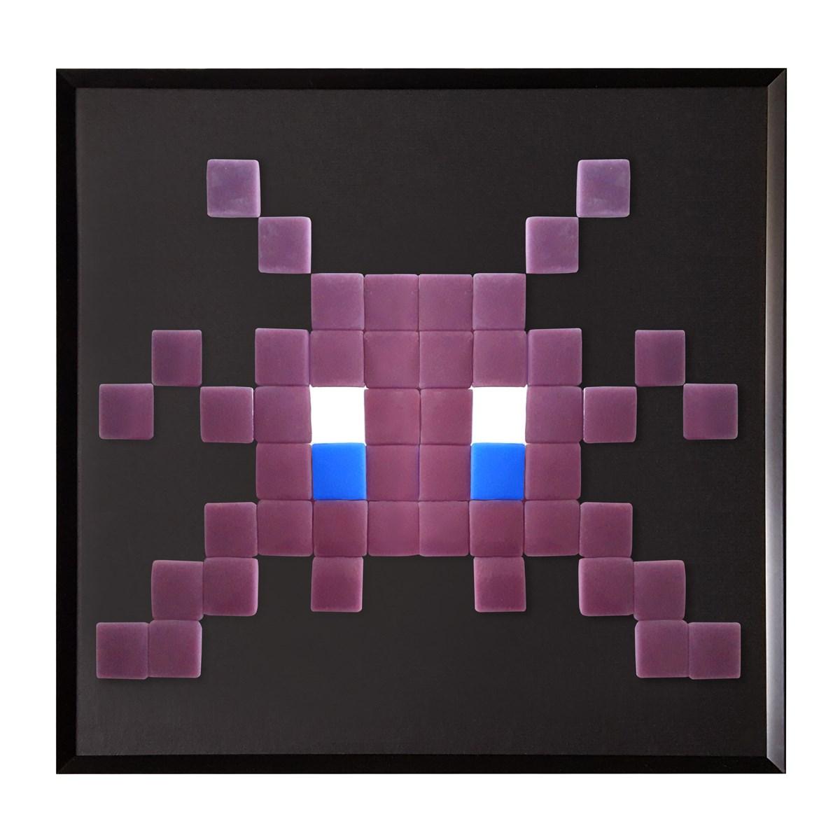 Cadre mosaïque en verre mauve 30x30cm