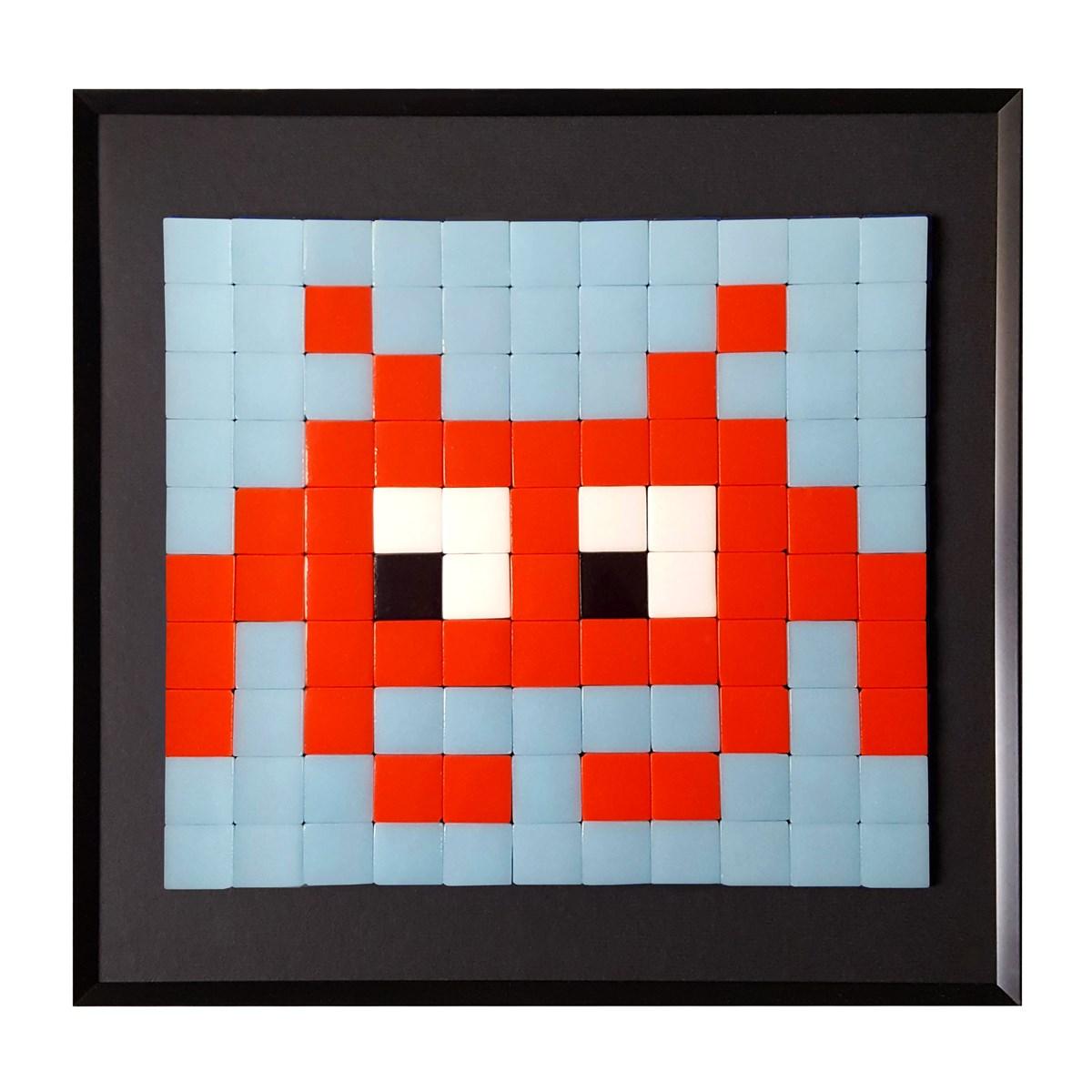 Cadre mosaïque en verre rouge 30x30cm